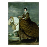 Equestrian portrait of Elisabeth de France Card