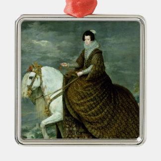 Equestrian portrait of Elisabeth de France Metal Ornament