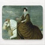 Equestrian portrait of Elisabeth de France Mouse Pad