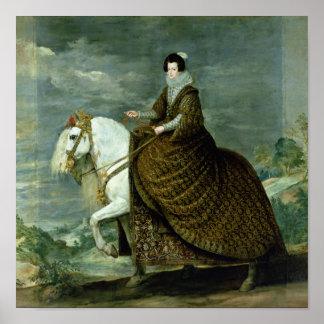 Equestrian portrait of Elisabeth de France Poster