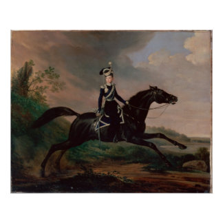 Equestrian Portrait of Grand Prince Alexander Posters
