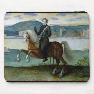 Equestrian Portrait of Henri IV  King of Mouse Pad