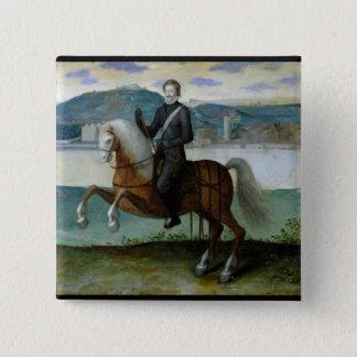 Equestrian Portrait of Henri IV  King of Pinback Button
