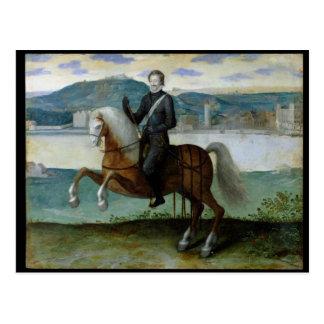 Equestrian Portrait of Henri IV  King of Postcard