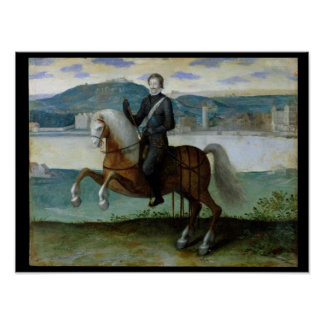 Equestrian Portrait of Henri IV  King of Poster