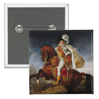 Equestrian Portrait of Jerome Bonaparte  1808 Pinback Button
