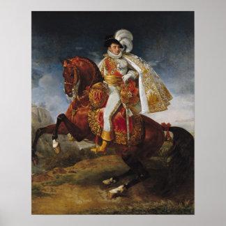 Equestrian Portrait of Jerome Bonaparte  1808 Poster