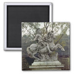 Equestrian Portrait of Louis XIV 2 2 Inch Square Magnet