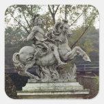 Equestrian Portrait of Louis XIV 2 Square Sticker