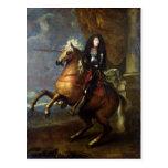 Equestrian Portrait of Louis XIV  c.1668 Post Card