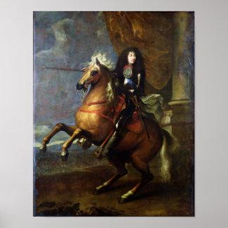 Equestrian Portrait of Louis XIV  c.1668 Poster
