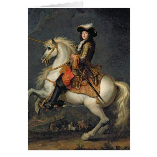Equestrian Portrait of Louis XIV Greeting Card