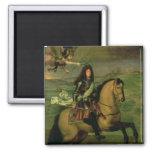 Equestrian Portrait of Louis XIV Refrigerator Magnet