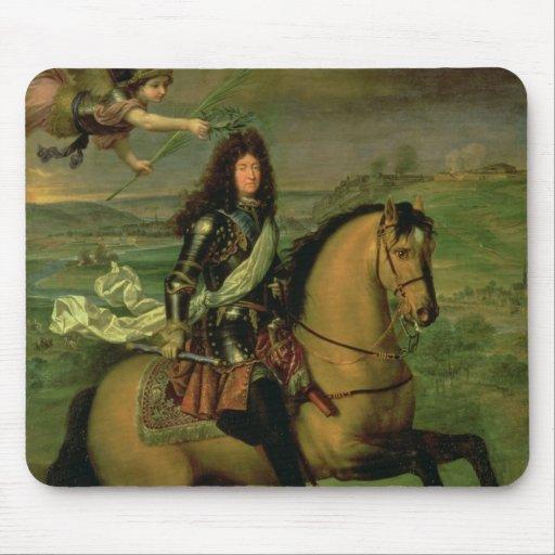 Equestrian Portrait of Louis XIV Mouse Pads