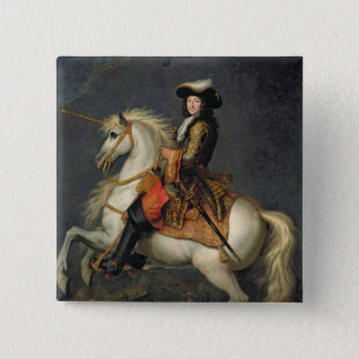 Equestrian Portrait of Louis XIV Pinback Button