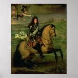 Equestrian Portrait of Louis XIV Posters