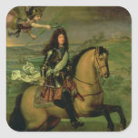 Equestrian Portrait of Louis XIV Square Stickers