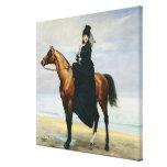Equestrian Portrait of Mademoiselle Croizette Canvas Print