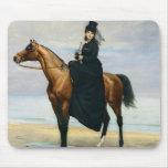 Equestrian Portrait of Mademoiselle Croizette Mouse Pad