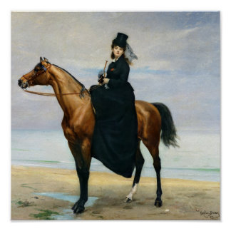 Equestrian Portrait of Mademoiselle Croizette Poster