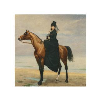 Equestrian Portrait of Mademoiselle Croizette Wood Print
