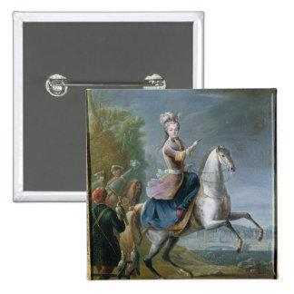 Equestrian Portrait of Maria Leszczynska Button