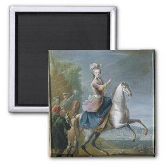 Equestrian Portrait of Maria Leszczynska Magnet