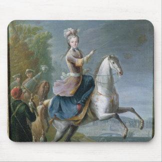 Equestrian Portrait of Maria Leszczynska Mouse Pad