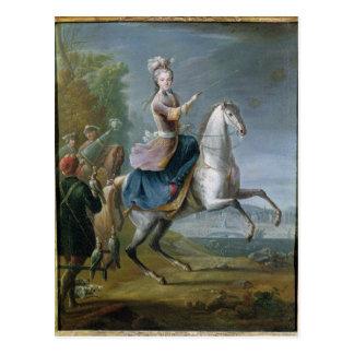 Equestrian Portrait of Maria Leszczynska Postcard