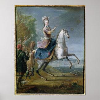 Equestrian Portrait of Maria Leszczynska Poster