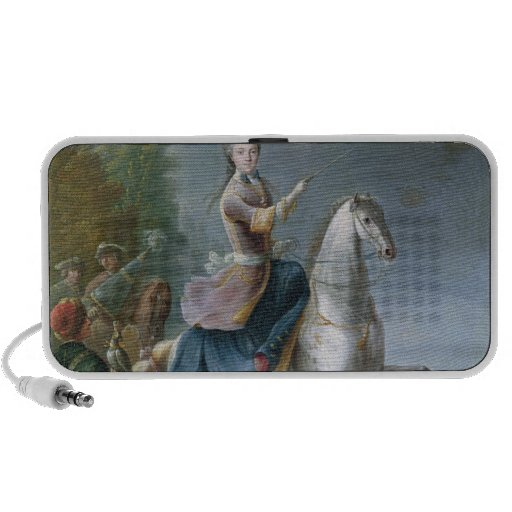 Equestrian Portrait of Maria Leszczynska Portable Speakers