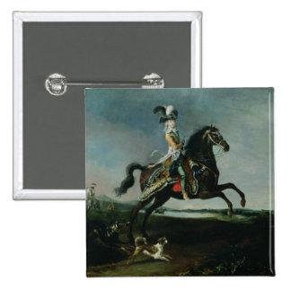 Equestrian Portrait of Marie-Antoinette 2 Inch Square Button