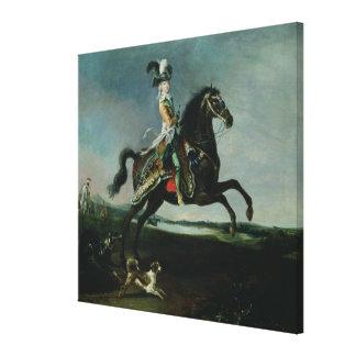 Equestrian Portrait of Marie-Antoinette Canvas Print