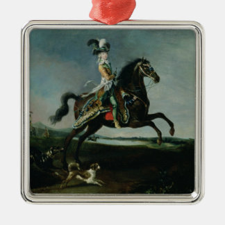 Equestrian Portrait of Marie-Antoinette Metal Ornament