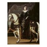 Equestrian Portrait of Marie de Medici Postcard