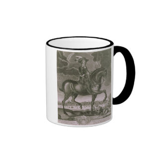 Equestrian Portrait of Oliver Cromwell (1599-1658) Ringer Coffee Mug