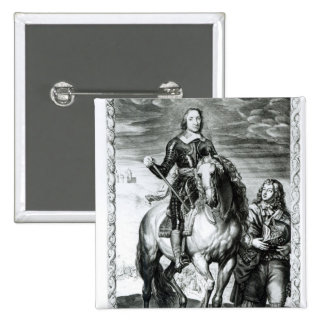 Equestrian portrait of Oliver Cromwell Button