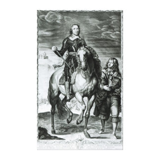 Equestrian Portrait of Oliver Cromwell Canvas Print