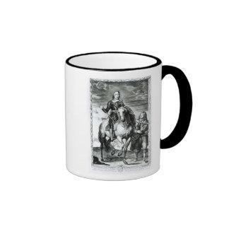 Equestrian portrait of Oliver Cromwell Ringer Coffee Mug