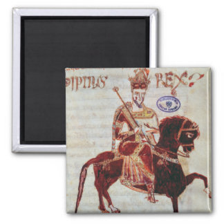 Equestrian portrait of Pepin  King of Italy Magnet