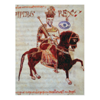 Equestrian portrait of Pepin  King of Italy Post Card