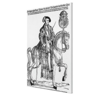Equestrian Portrait of Philip II  of Spain Canvas Print