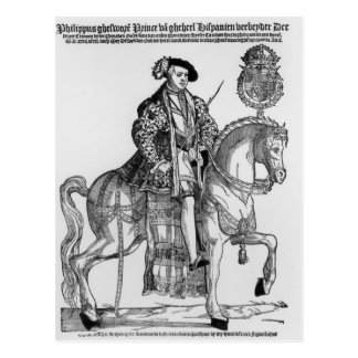 Equestrian Portrait of Philip II  of Spain Post Cards