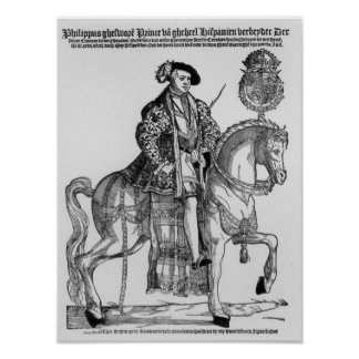 Equestrian Portrait of Philip II  of Spain Posters
