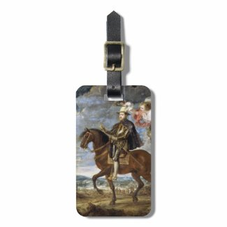 Equestrian Portrait of Philip II Peter Paul Rubens Bag Tag