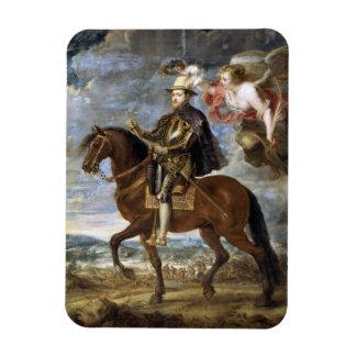 Equestrian Portrait of Philip II Peter Paul Rubens Magnet