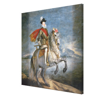 Equestrian Portrait of Philip III  c.1628-35 Canvas Print