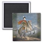 Equestrian Portrait of Philip III  c.1628-35 2 Inch Square Magnet