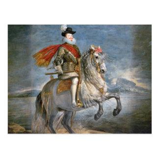 Equestrian Portrait of Philip III  c.1628-35 Postcard