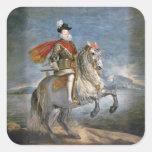 Equestrian Portrait of Philip III  c.1628-35 Square Sticker